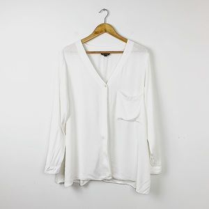 TopShop Maternity White Button Down Shirt